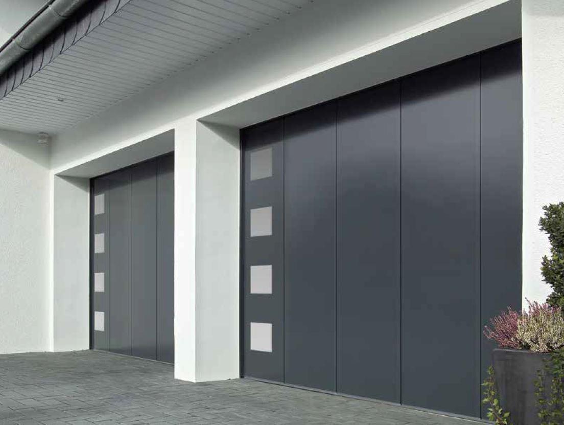 Porte de garage en savoie pose motorisation et r paration - Porte sectionnelle laterale ...